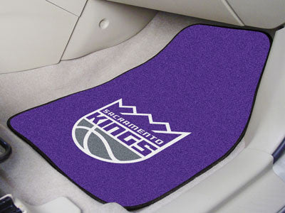"NBA Officially licensed products Sacramento Kings 2-pc Carpeted Car Mats 17""x27"" Show your fandom even while driving with Ca"