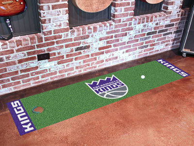 "NBA Officially licensed products Sacramento Kings Putting Green Runner 18""x72""  Become a pro and perfect your short game wit"