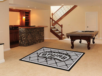 NBA Officially licensed products San Antonio Spurs 5'x8' Rug Show off your team pride in a big way! 5'x8' ultra plush area r