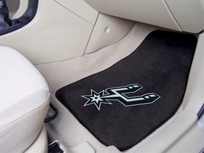 "NBA Officially licensed products San Antonio Spurs 2-pc Carpeted Car Mats 17""x27"" Show your fandom even while driving with C"