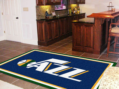 NBA Officially licensed products Utah Jazz 5'x8' Rug Show off your team pride in a big way! 5'x8' ultra plush area rugs won'