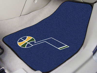 "NBA Officially licensed products Utah Jazz 2-pc Carpeted Car Mats 17""x27"" Show your fandom even while driving with Carpet Ca"