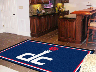 NBA Officially licensed products Washington Wizards 5'x8' Rug Show off your team pride in a big way! 5'x8' ultra plush area