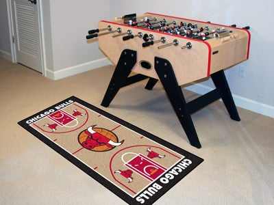 NBA Officially licensed products Chicago Bulls NBA Court Runner 24x44 Support your favorite NBA team with these basketball c
