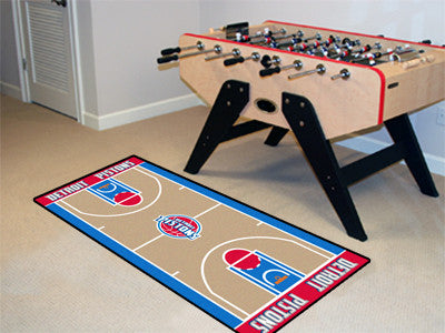 NBA Officially licensed products Detroit Pistons NBA Court Runner 24x44 Support your favorite NBA team with these basketball