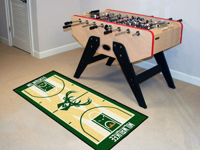 NBA Officially licensed products Milwaukee Bucks NBA Court Runner 24x44 Support your favorite NBA team with these basketball