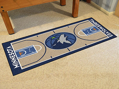 NBA Officially licensed products Minnesota Timberwolves NBA Court Runner 24x44 Support your favorite NBA team with these bas
