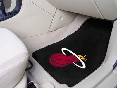 "NBA Officially licensed products Miami Heat 2-pc Carpeted Car Mats 17""x27"" Show your fandom even while driving with Carpet C"