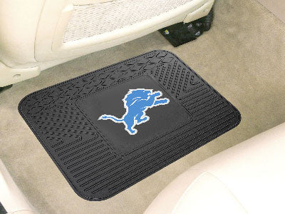 "NFL Officially licensed products Detroit Lions Utility Mat 14""x17"" Boast your team colors with backseat Utility Mats by SLSr"