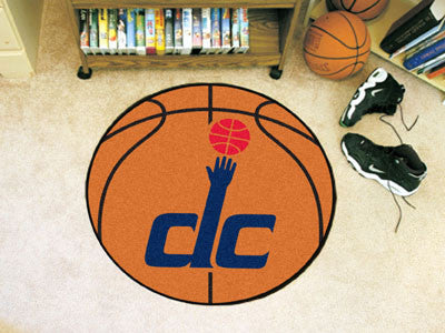 "NBA Officially licensed products Washington Wizards Basketball Mat 27"" diameter  Protect your floor in style and show off yo"