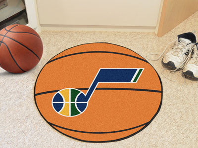 "NBA Officially licensed products Utah Jazz Basketball Mat 27"" diameter  Protect your floor in style and show off your fandom"