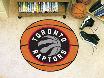 "NBA Officially licensed products Toronto Raptors Basketball Mat 27"" diameter  Protect your floor in style and show off your"
