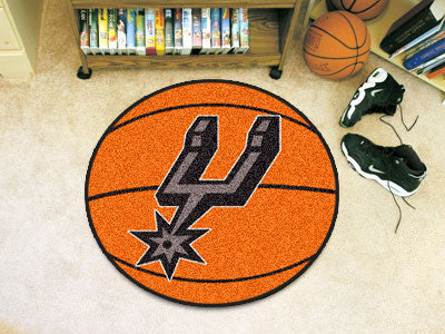 "NBA Officially licensed products San Antonio Spurs Basketball Mat 27"" diameter  Protect your floor in style and show off you"