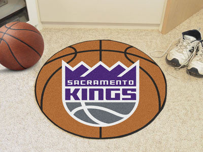 "NBA Officially licensed products Sacramento Kings Basketball Mat 27"" diameter  Protect your floor in style and show off your"