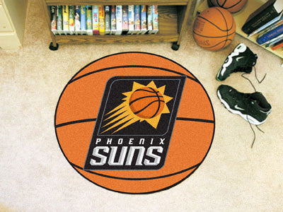 "NBA Officially licensed products Phoenix Suns Basketball Mat 27"" diameter  Protect your floor in style and show off your fan"