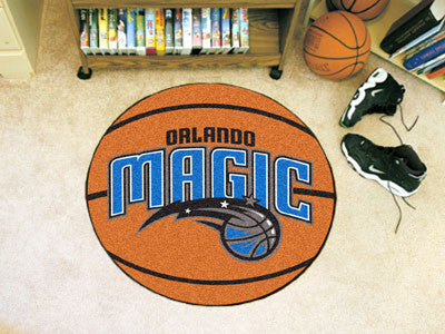 "NBA Officially licensed products Orlando Magic Basketball Mat 27"" diameter  Protect your floor in style and show off your fa"