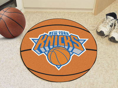 "NBA Officially licensed products New York Knicks Basketball Mat 27"" diameter  Protect your floor in style and show off your"