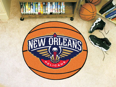 "NBA Officially licensed products New Orleans Pelicans Basketball Mat 27"" diameter  Protect your floor in style and show off"