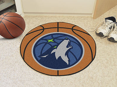 "NBA Officially licensed products Minnesota Timberwolves Basketball Mat 27"" diameter  Protect your floor in style and show of"