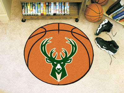 "NBA Officially licensed products Milwaukee Bucks Basketball Mat 27"" diameter  Protect your floor in style and show off your"
