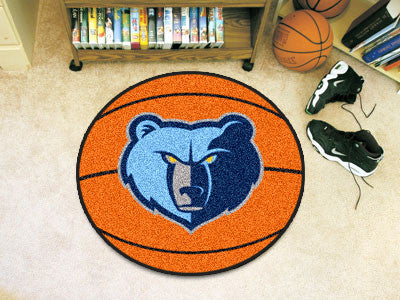 "NBA Officially licensed products Memphis Grizzlies Basketball Mat 27"" diameter  Protect your floor in style and show off you"