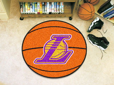 "NBA Officially licensed products Los Angeles Lakers Basketball Mat 27"" diameter  Protect your floor in style and show off yo"