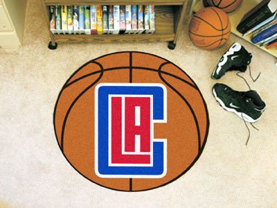 "NBA Officially licensed products Los Angeles Clippers Basketball Mat 27"" diameter  Protect your floor in style and show off"