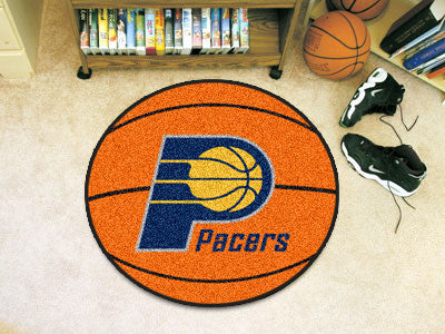 "NBA Officially licensed products Indiana Pacers Basketball Mat 27"" diameter  Protect your floor in style and show off your f"