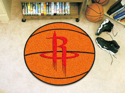 "NBA Officially licensed products Houston Rockets Basketball Mat 27"" diameter  Protect your floor in style and show off your"