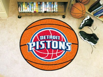 "NBA Officially licensed products Detroit Pistons Basketball Mat 27"" diameter  Protect your floor in style and show off your"
