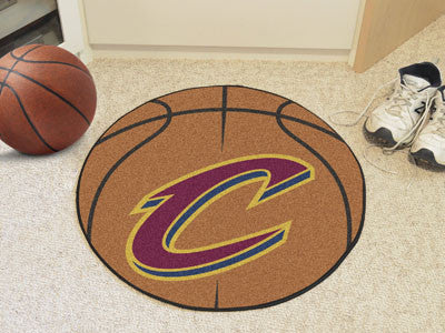 "NBA Officially licensed products Cleveland Cavaliers Basketball Mat 27"" diameter  Protect your floor in style and show off y"
