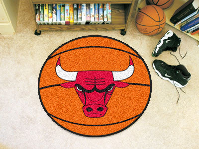 "NBA Officially licensed products Chicago Bulls Basketball Mat 27"" diameter  Protect your floor in style and show off your fa"