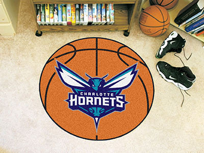 "NBA Officially licensed products Charlotte Hornets Basketball Mat 27"" diameter  Protect your floor in style and show off you"