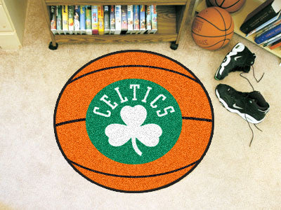 "NBA Officially licensed products Boston Celtics Basketball Mat 27"" diameter  Protect your floor in style and show off your f"