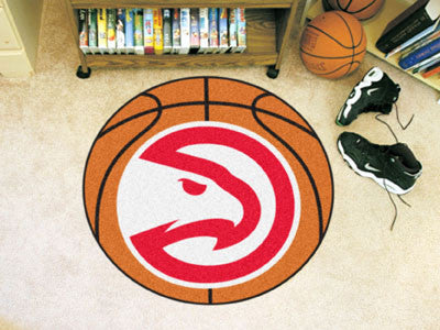 "NBA Officially licensed products Atlanta Hawks Basketball Mat 27"" diameter  Protect your floor in style and show off your fa"
