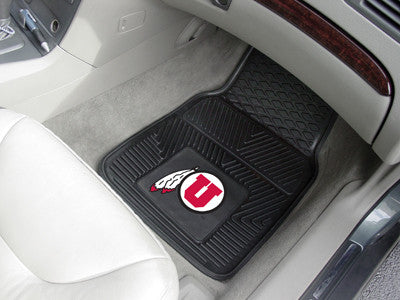 "NCAA Officially licensed University of Utah 2-pc Vinyl Car Mat Set 17""x27"" Add style to your ride with heavy duty Vinyl Car"