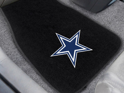 "NFL Officially licensed products Dallas Cowboys 2-pc Embroidered Car Mats 18""x27"" Protect the interior of your vehicle while"