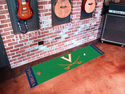"NCAA Officially licensed University of Virginia Putting Green Mat 18""x72"" Become a pro and perfect your short game with Golf"