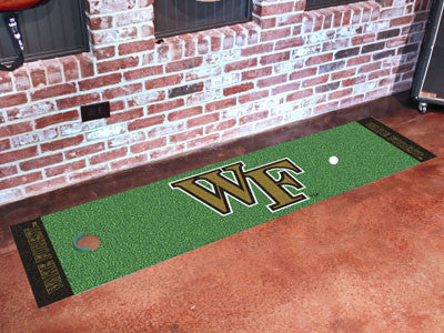 "NCAA Officially licensed Wake Forest University Putting Green Mat 18""x72"" Become a pro and perfect your short game with Golf"