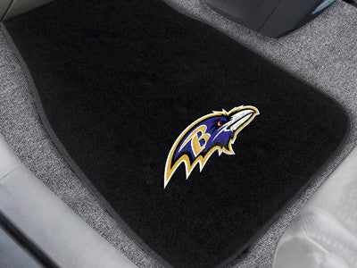 "NFL Officially licensed products Baltimore Ravens 2-pc Embroidered Car Mats 18""x27"" Protect the interior of your vehicle whi"