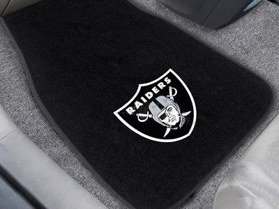 "NFL Officially licensed products Oakland Raiders 2-pc Embroidered Car Mats 18""x27"" Protect the interior of your vehicle whil"