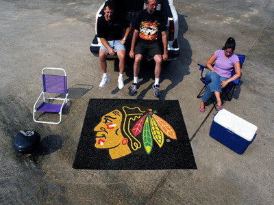 NHL Officially licensed products Chicago Blackhawks Tailgater Rug 5'x6' Start showing off your team pride with a Tailgater M