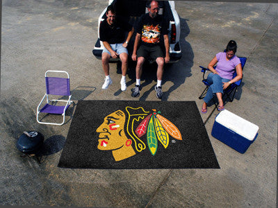 NHL Officially licensed products Chicago Blackhawks Ulti-Mat 5'x8' Start showing off your team pride with an Ulti-Mat from S