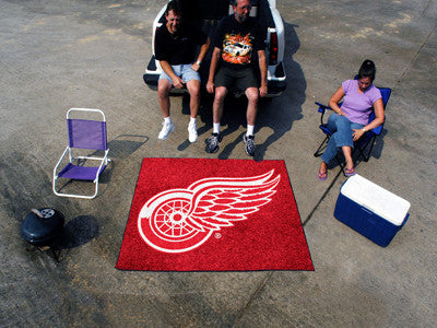 NHL Officially licensed products Detroit Red Wings Tailgater Rug 5'x6' Start showing off your team pride with a Tailgater Ma