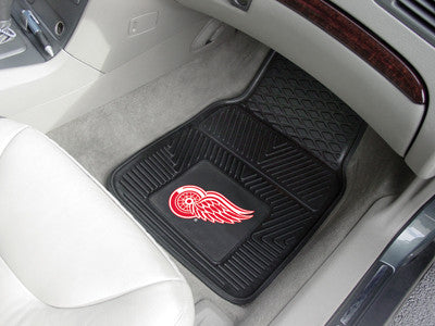 "NHL Officially licensed products Detroit Red Wings  2-pc Vinyl Car Mats 17""x27"" Add style to your ride with heavy duty Vinyl"