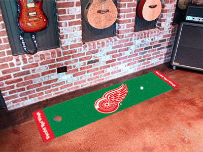 "NHL Officially licensed products Detroit Red Wings Putting Green Mat 18""x72"" Become a pro and perfect your short game with G"