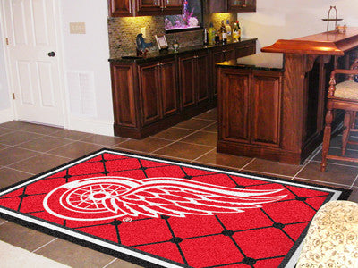NHL Officially licensed products Detroit Red Wings 5'x8' Rug Show off your team pride in a big way! 5'x8' ultra plush area r