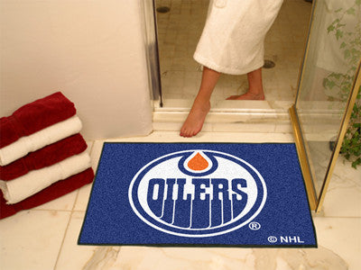 "NHL Officially licensed products Edmonton Oilers All-Star Mat 33.75""x42.5"" Join the All-Star team and decorate your home or"