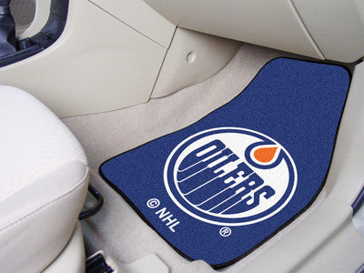 "NHL Officially licensed products Edmonton Oilers 2-pc Printed Carpet Car Mats 17""x27"" Show your fandom even while driving wi"