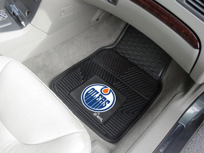 "NHL Officially licensed products Edmonton Oilers  2-pc Vinyl Car Mats 17""x27"" Add style to your ride with heavy duty Vinyl C"